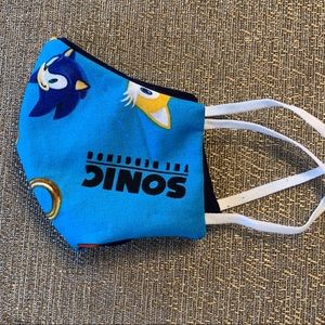 Hand Crafted Accessories Sonic The Hedgehog Kid Face Masks Poshmark